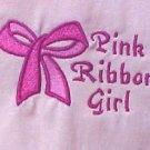 Breast Cancer T Shirt S Awareness Ribbon Girl Bow Pink Short Sleeve Blend New