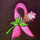 Pink Ribbon Rose Sweatshirt 2XL Brown Crew Neck Breast Cancer Awareness New