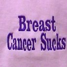 Breast Cancer Sucks T-Shirt 4X Awareness Purple Embroidery Pink Short Sleeve New