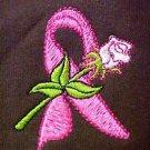 Pink Ribbon Hoodie 2XL Cancer Awareness White Rose Brown Sweatshirt Unisex New