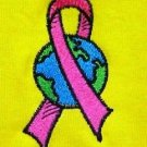Pink Ribbon World T Shirt M Breast Cancer Awareness Yellow S/S Unisex Gildan New