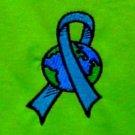 Blue Ribbon Earth T Shirt 2XL World Awareness Lime Green S/S Unisex Blend New