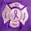 Purple Ribbon Polo Shirt M Cancer Awareness EMT Maltese Cross S/S Unisex New