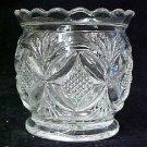 Westmoreland Clear Glass Butterfly Fan Diamond Sugar Dish Bowl