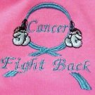 Fight Back Cancer Awareness M Teal Boxing Gloves Hot Pink S/S T Shirt Unisex New