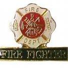Fire Fighter Lapel Cap Pin Tac Fire Department Maltese Cross Emblem New