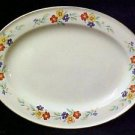 Vintage Knowles Handpainted China Large Oval Floral Serving Platter USA I