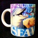 Seaworld Collector Mug Dolphin Shamu Whale Pottery Cup Sea World Ceramic