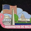 Washington DC Breast Cancer Pin Awareness Walk Pink Ribbon Silver Plated New