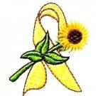 Liver Sarcoma Bladder Cancer Troops Yellow Ribbon Sunflower White Sweatshirt L
