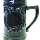 Collectible Jostens Stein Mug Navy Blue Gold Trim College Crest Blank Emblem