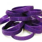 Purple Awareness Bracelets Lot 100 Cancer Causes Silicone Wristbands IMPERFECT