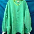 Women's Green Yellow Hinson Hale 4XL Round Neck Nursing Warm Up Scrub Jacket New