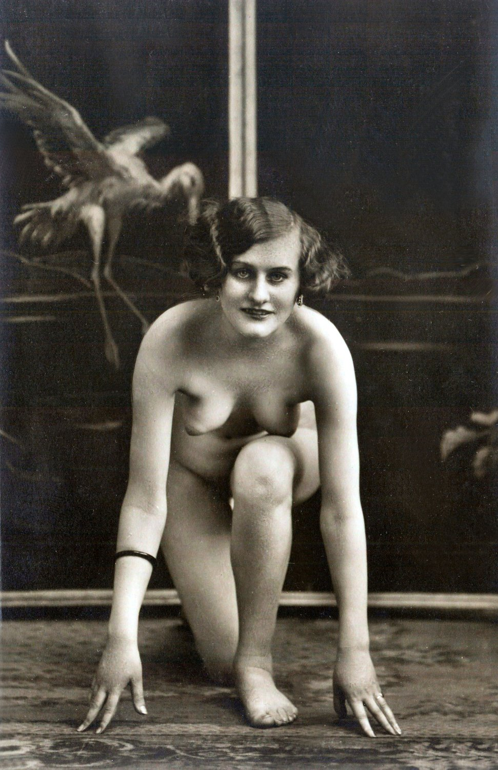 vintage erotica image in downloadable and printable digital format. High resolution.