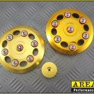 Area 22 2014 2015 Honda MSX125 Grom CNC Aluminum Engine Cover Dress Up Set Gold