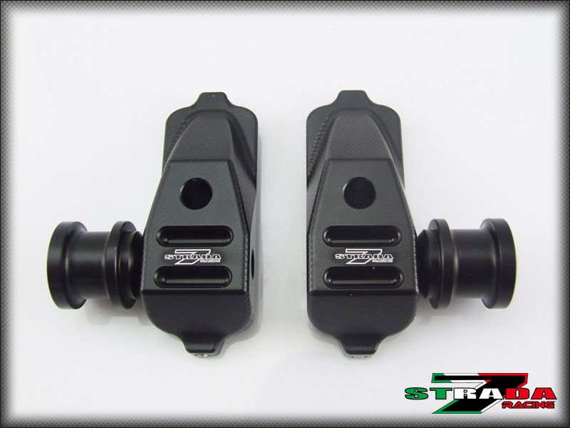 Strada 7 Racing CNC Swingarm Spool Adapters / Mounts For Honda CBR500R - Black