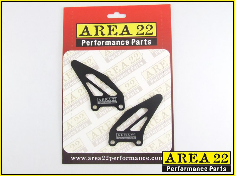 Area 22 Performance Rear Set Spare Heel Guard Plates Black Pair Rearsets