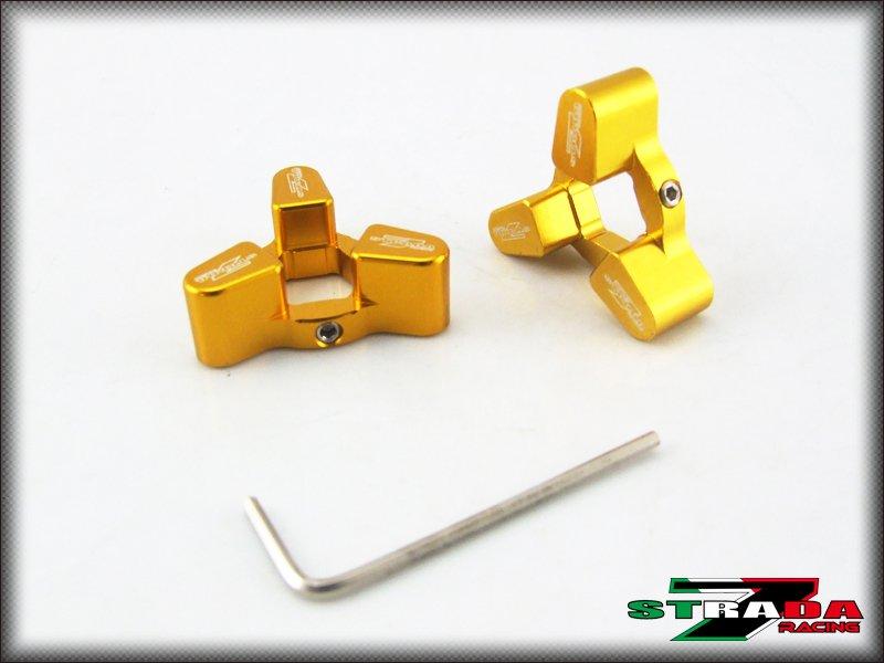 Strada 7 CNC Front Fork Preload Adjusters Suzuki GSX-R1000 SV1000 S B-King Gold
