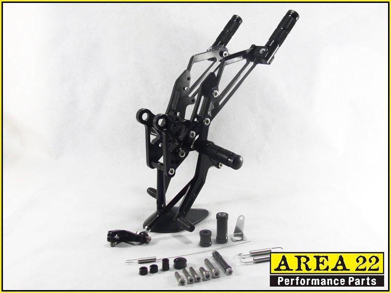 Area 22 2014 2015 Honda MSX125 Grom CNC Rearsets Rear Set Foot Controls Black