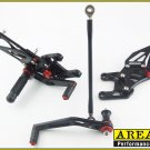 2008-2013 Honda CBR1000RR Area 22 Adjustable Rear Sets Footpegs Black Rearsets