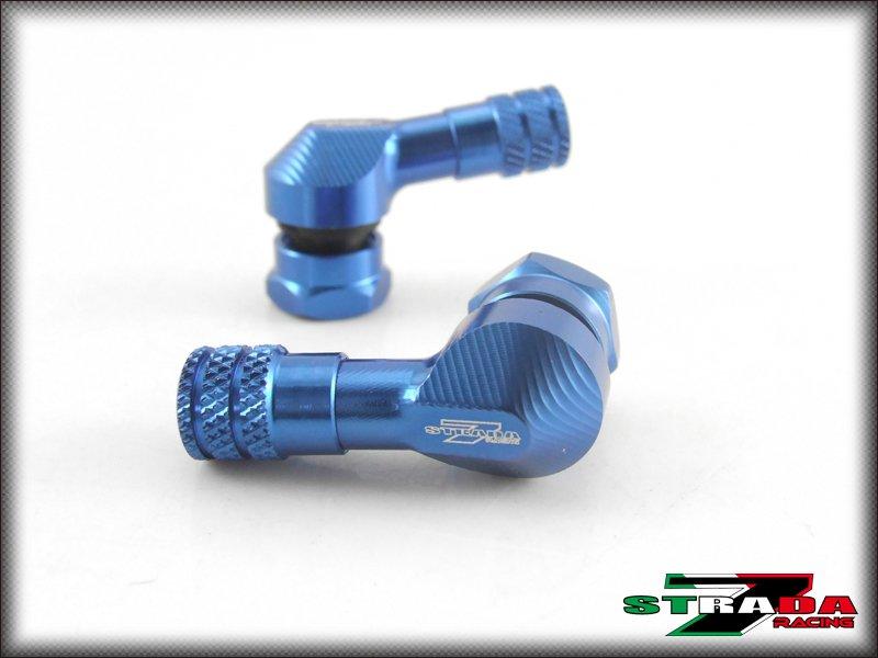 "Strada 7 83 Degree 8.3mm 0.357"" inch CNC Valve Stems for Marchesini wheels Blue"
