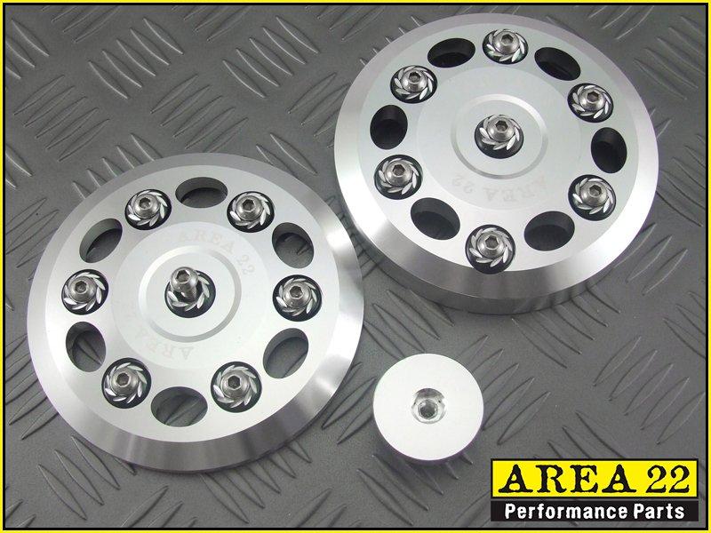 Area 22 2014 15 Honda MSX125 Grom CNC Aluminum Engine Cover Dress Up Set Silver