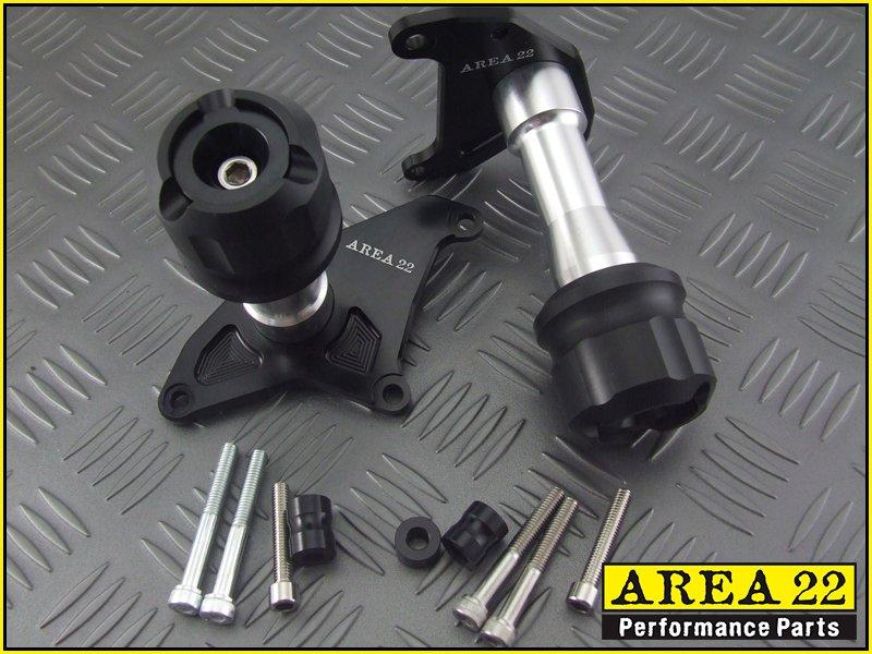 Area 22 2014 2015 Honda MSX125 Grom CNC Engine Crash Protectors Black