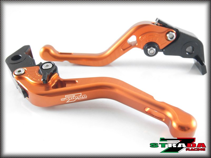 Strada 7 CNC Shorty Adjustable Levers Ducati S2R 1000 2006 - 2008 Orange