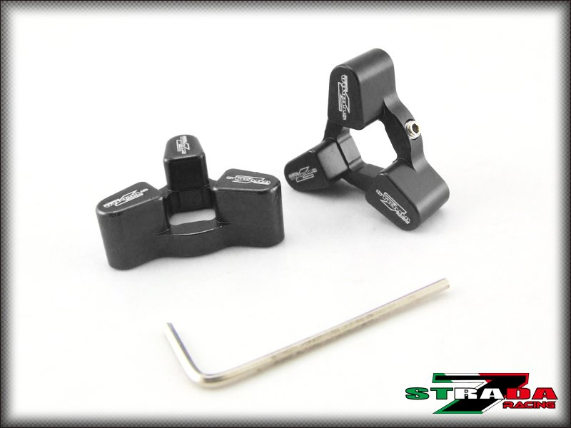 Strada 7 14mm CNC Fork Preload Adjusters Suzuki GSX-R1000 SV1000 S B-King Black
