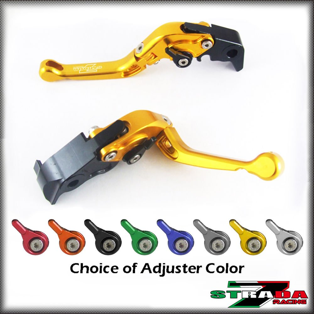 Strada 7 Short Folding Adjustable Levers Yamaha R6S CANADA VERSION 07-2009 Gold