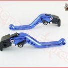 MC Short Adjustable CNC Levers Suzuki SV650 / S 1999 - 2009 Blue