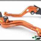 Strada 7 CNC Shorty Adjustable Levers Ducati ST4 / S / ABS 1999 - 2002 Orange