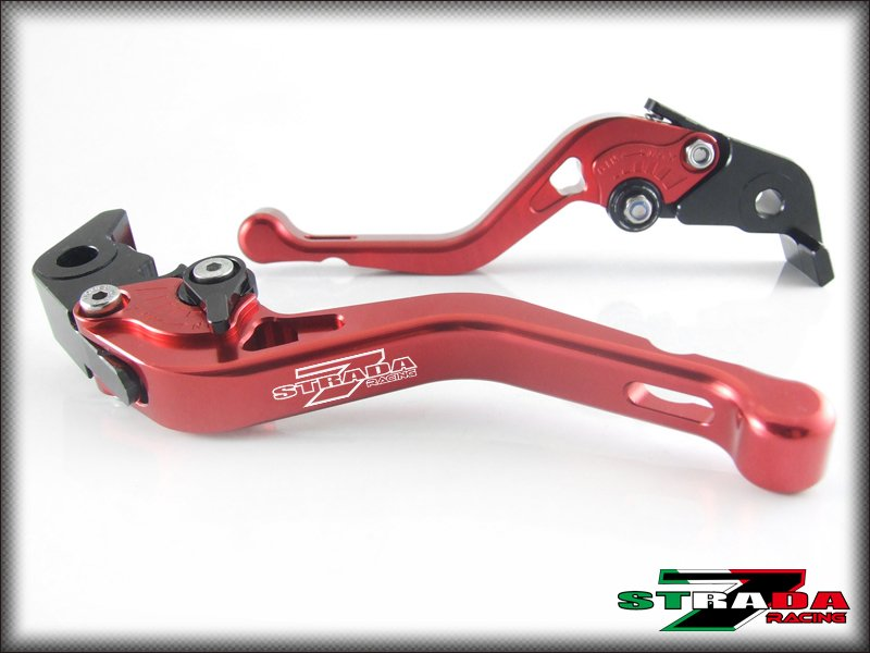 Strada 7 CNC Shorty Adjustable Levers Ducati ST3 / S / ABS 2003 - 2007 Red