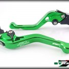 Strada 7 CNC Shorty Adjustable Levers Yamaha R6S CANADA VERSION 2007- 2009 Green