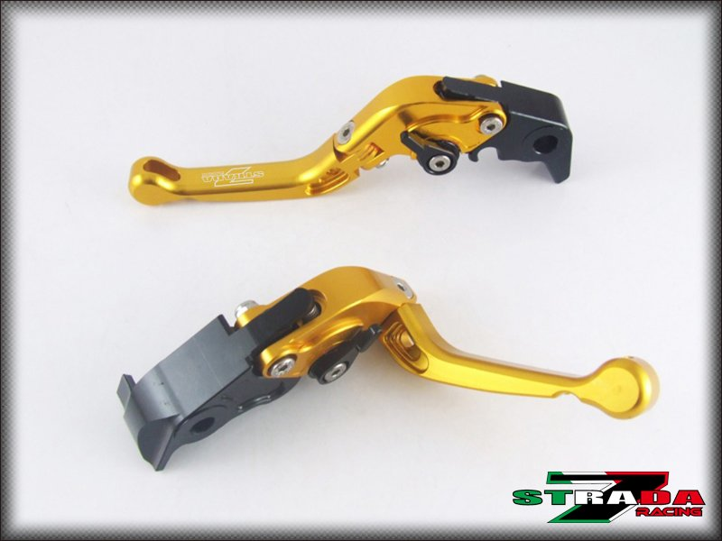 Strada 7 CNC Short Folding Adjustable Levers Yamaha R6S USA VERSION 06-2009 Gold