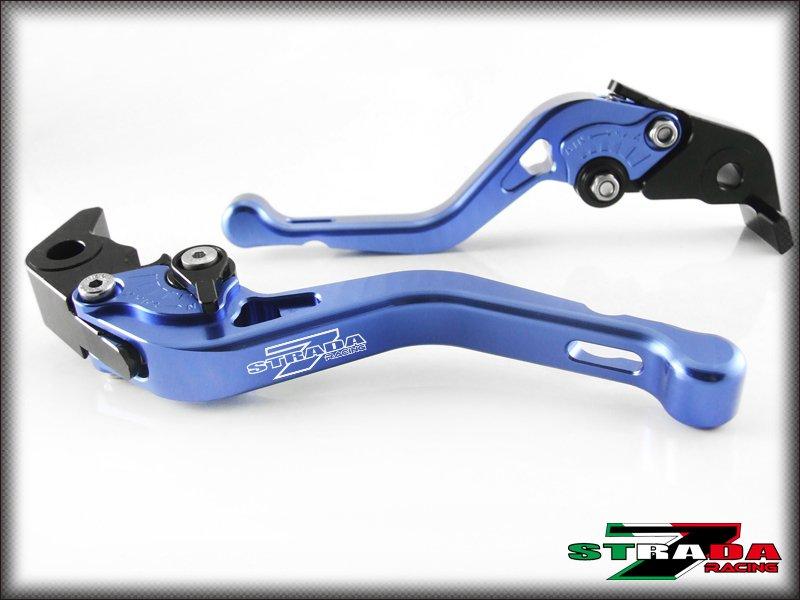 Strada 7 CNC Shorty Adjustable Levers Yamaha YZF R6 2005 - 2014 Blue