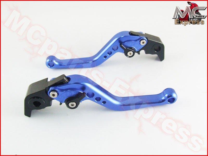 MC Short Adjustable CNC Levers Suzuki TL1000S 1997 - 2001 Blue