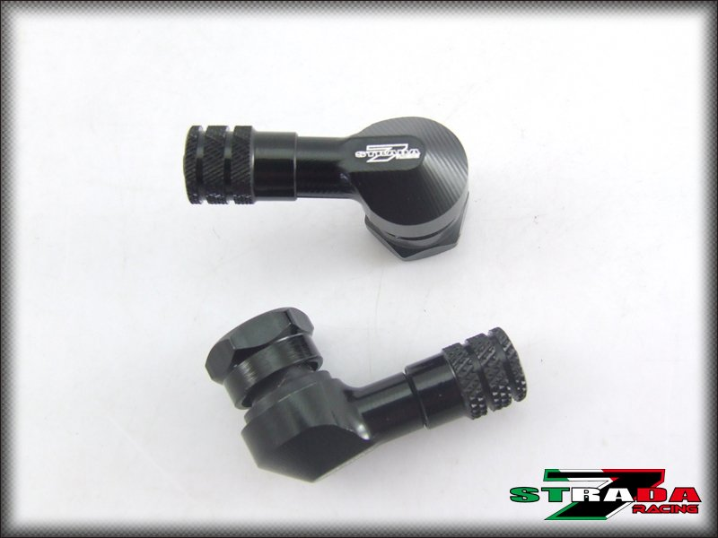 "Strada 7 83 Degree 8.3mm 0.357"" inch CNC Valve Stems Ducati MS4 / MS4R Black"