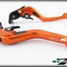 Strada 7 CNC Short Carbon Fiber Levers Honda VFR750 1991 - 1997 Orange