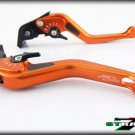 Strada 7 CNC Short Carbon Fiber Levers Kawasaki ZRX1100 1200 1999 - 2007 Orange