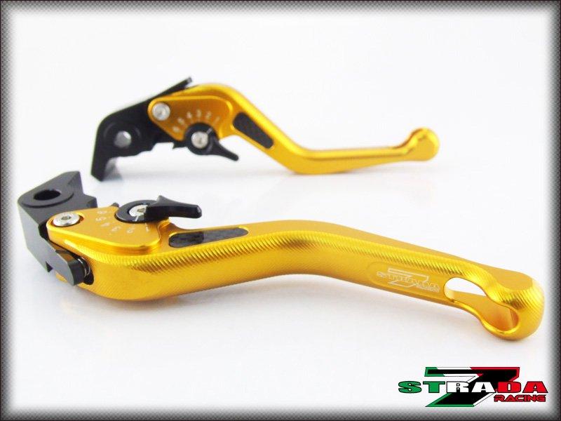 Strada 7 CNC Short Carbon Fiber Levers Honda CBR600F 2011 - 2013 Gold