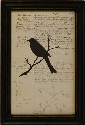 Silhouette Document Bird