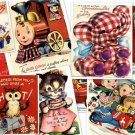 CD 550 Vintage CHILDREN GREETING Cards Images Illustrations Kids