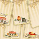 Printable Cake Tags, Digital Collage Sheet Gift Tags, Food Tags, Labels