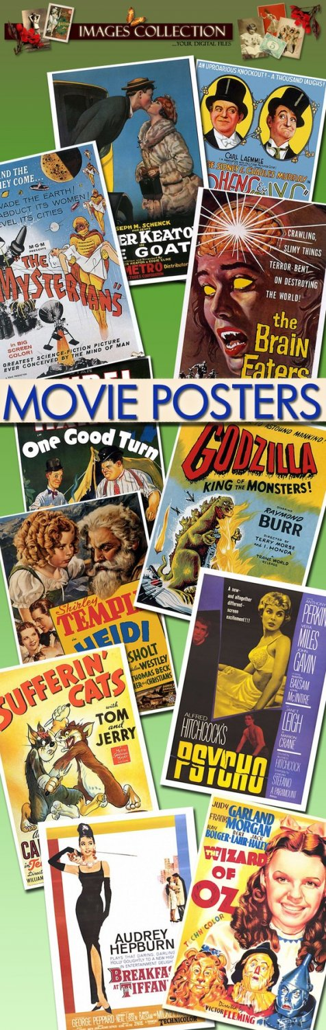 Movie Posters -Part.1- 700 Jpeg files scrap cards
