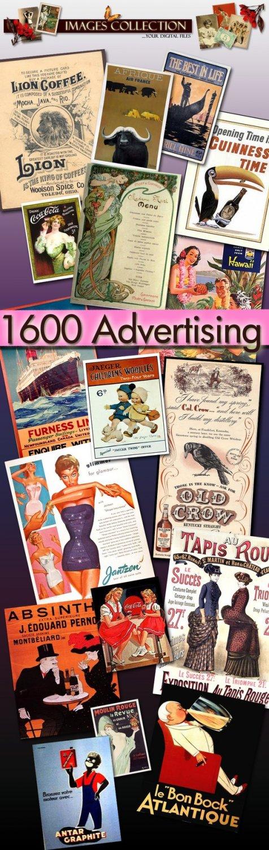 Collection Digital images printable 1600 Jpeg vintage print