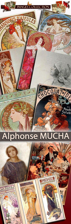 Alphonse MUCHA-art deco paris 1900 painting Czech Art Nouveau painter decorative artist original