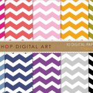 Digital Paper - Chevron - Pink,Red,Org,Grn,Blu,Purp,Gray ,Black Chevron Pattern