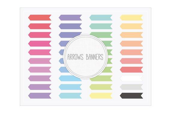 Arrows Banners Clip Art