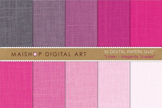 Digital Paper Linen-Magenta Shades-Hot Pink,Thulian Pink,Mountbatten Pink,Textured Papers